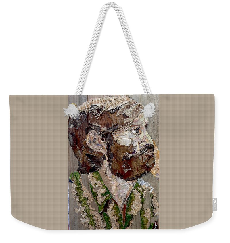 Portrait Weekender Tote Bag featuring the mixed media Philospher's Vision by Basant Soni