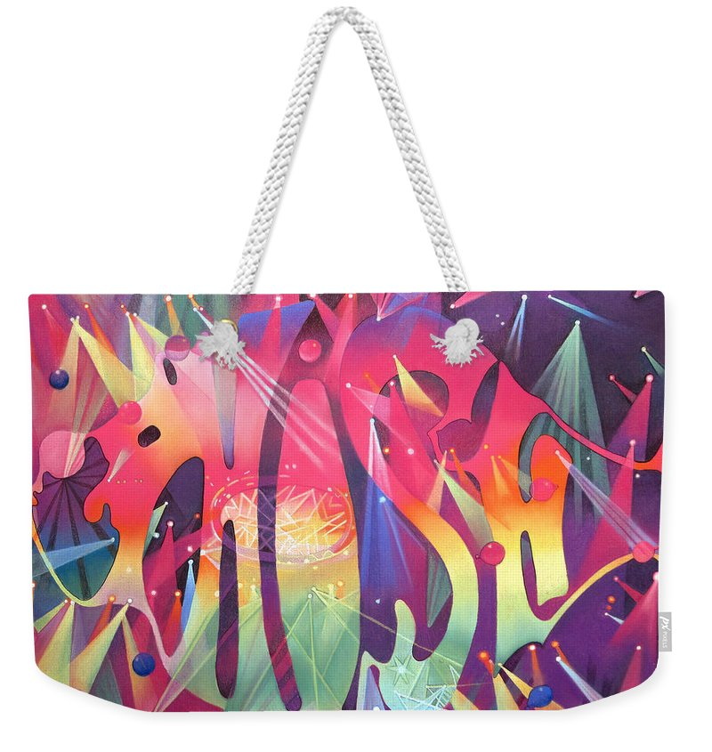 Phish Weekender Tote Bag featuring the drawing Phish The Mother Ship by Joshua Morton