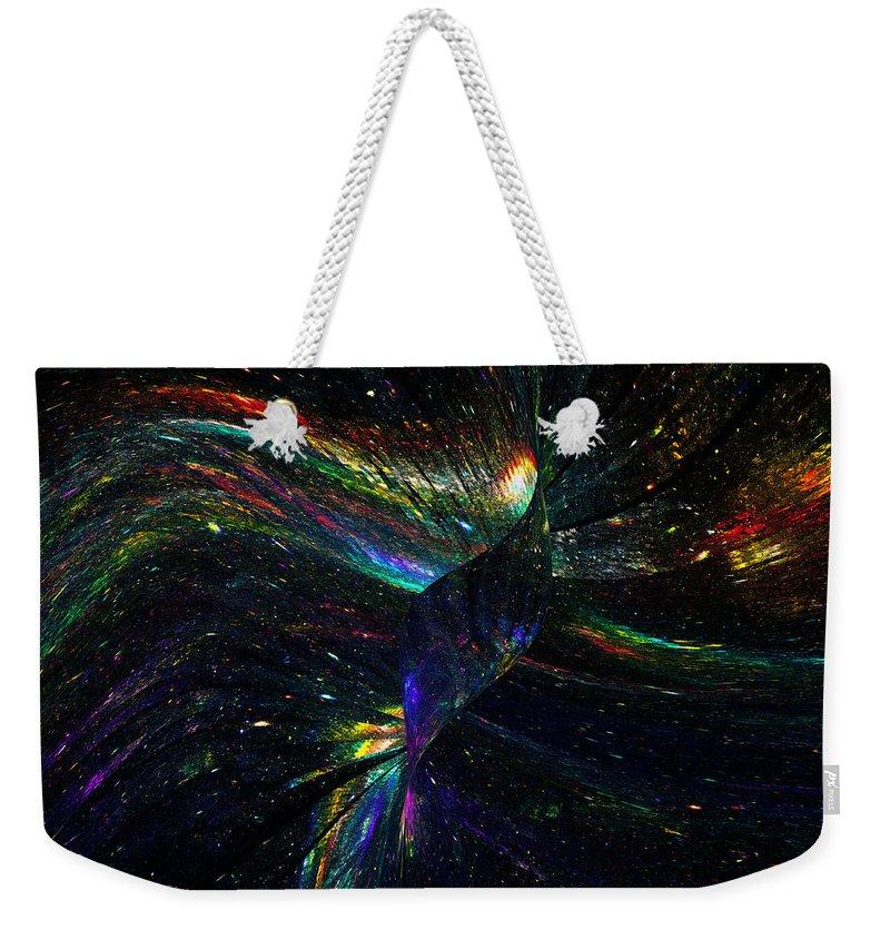 Phoenix Weekender Tote Bag featuring the digital art Phoenix by Klara Acel