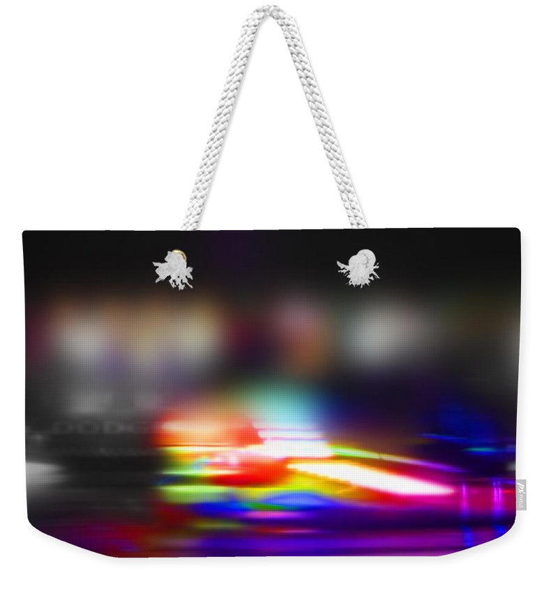 Photo Weekender Tote Bag featuring the painting Photo Now by Charles Stuart