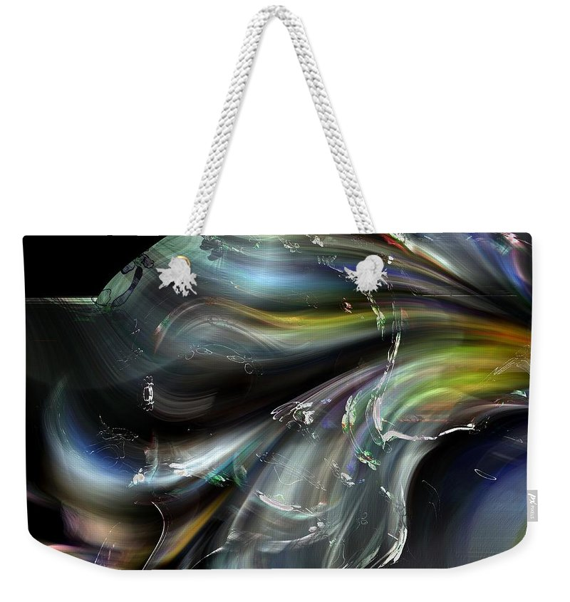 Abstract Weekender Tote Bag featuring the photograph Photonic Exuberance by Richard Thomas