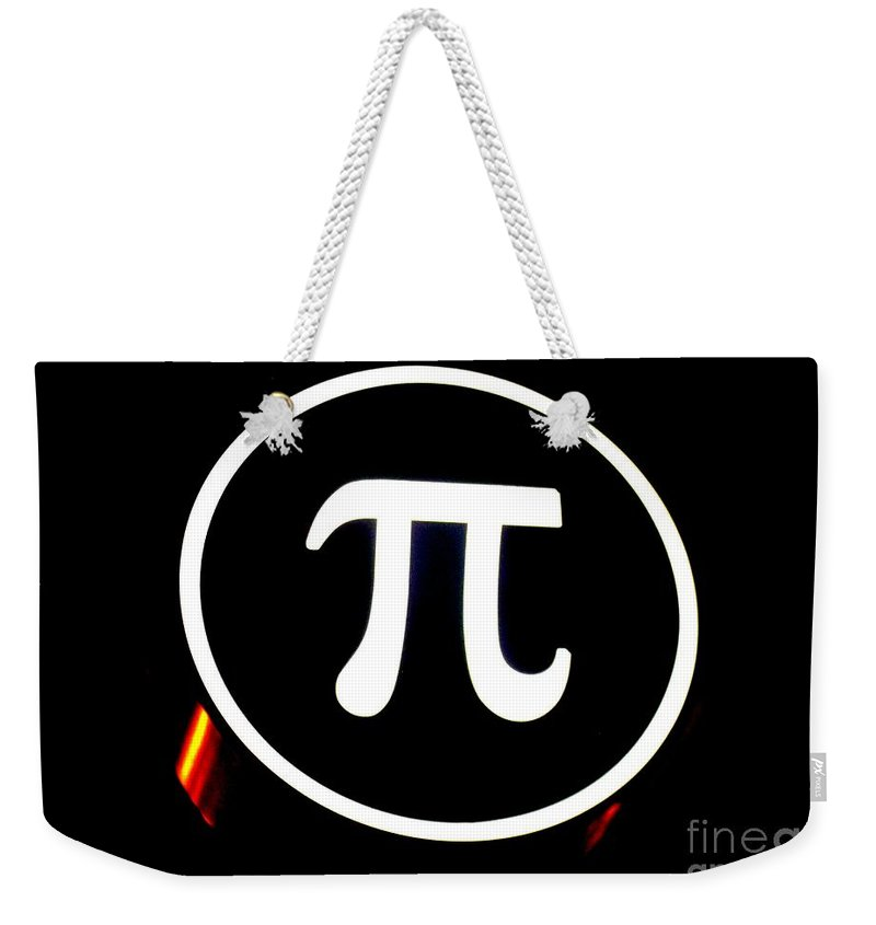 Weekender Tote Bag featuring the photograph Pi by Kelly Awad