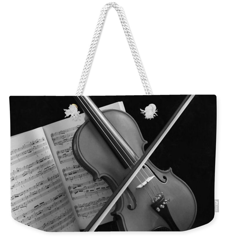 Violin Weekender Tote Bag featuring the photograph Pianissimo by Kristin Elmquist