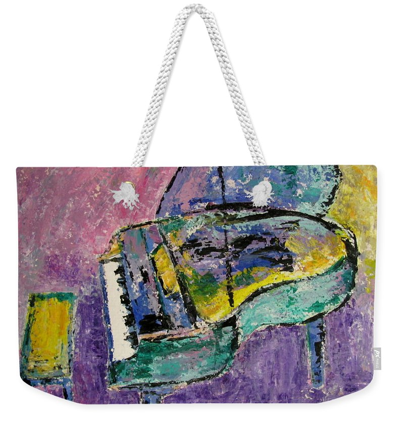 Impressionist Weekender Tote Bag featuring the painting Piano Green by Anita Burgermeister