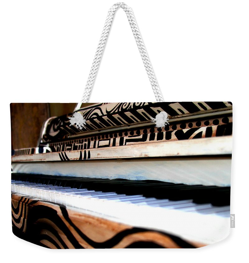 Piano Weekender Tote Bag featuring the photograph Piano In The Dark - Music By Diana Sainz by Diana Raquel Sainz