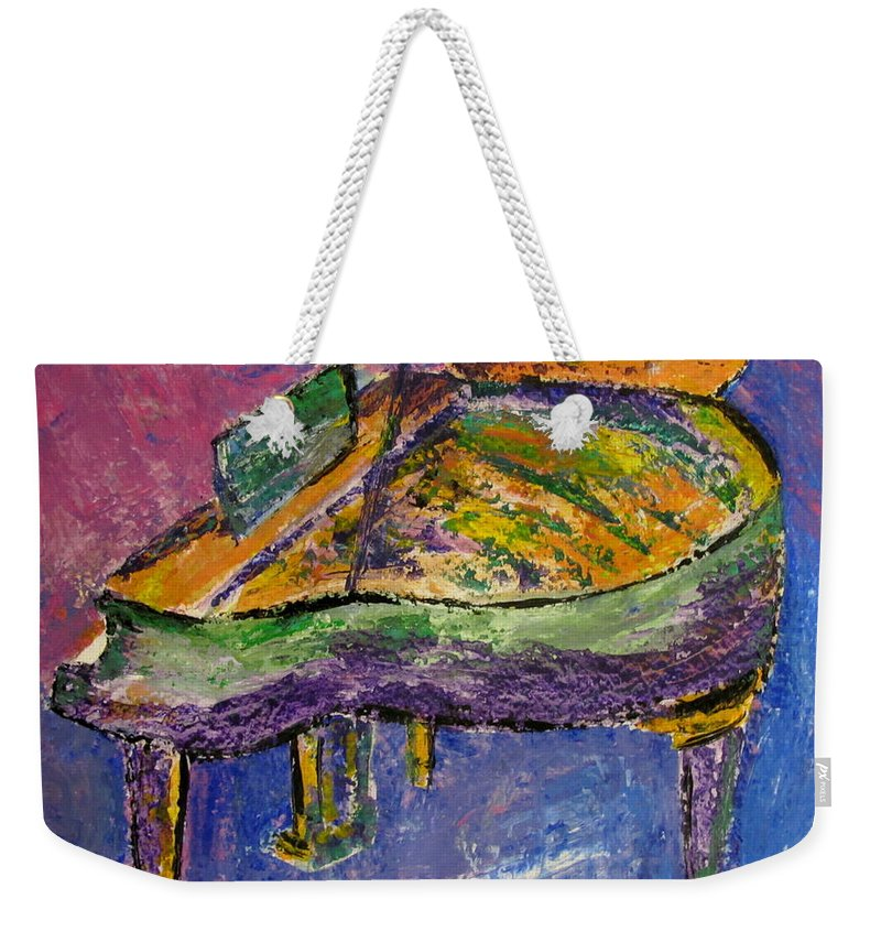 Impressionist Weekender Tote Bag featuring the painting Piano Purple by Anita Burgermeister