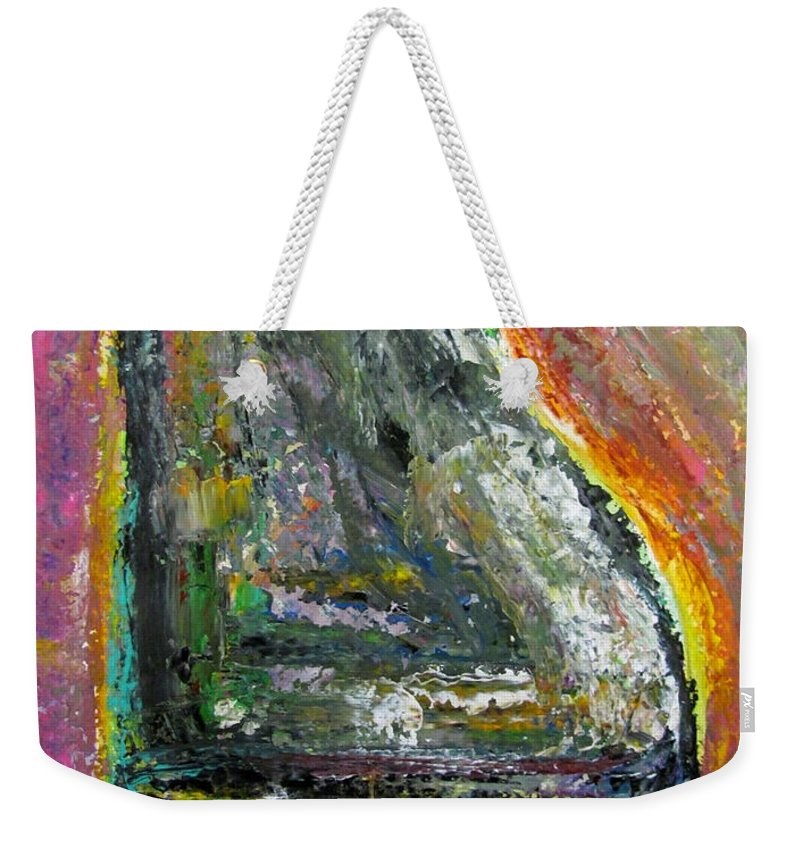 Impressionist Weekender Tote Bag featuring the painting Piano Red by Anita Burgermeister