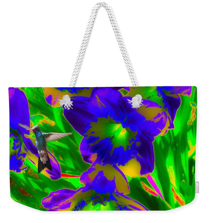 Flower Paintings Paintings Weekender Tote Bag featuring the photograph Pic Me Pic Me by Mayhem Mediums