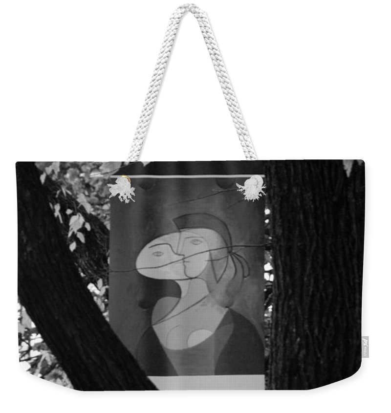 Scenic Weekender Tote Bag featuring the photograph Picasso In Black And White by Rob Hans