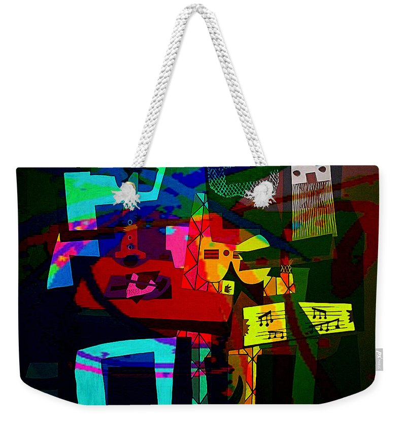 Picasso Weekender Tote Bag featuring the mixed media Picasso With A Twist Of Color. by Marvin Blaine