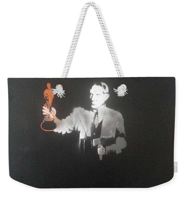 Figurative   Weekender Tote Bag featuring the painting Pablo Picasso  With Axe And Oscar Tribute To Robin Williams by MERLIN Vernon