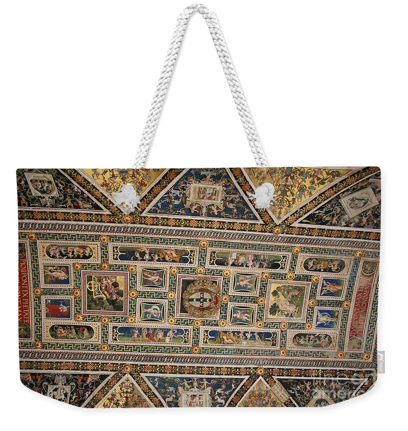 Ceiling Weekender Tote Bag featuring the photograph Piccolomini Bibliotheca - Siena by Christiane Schulze Art And Photography