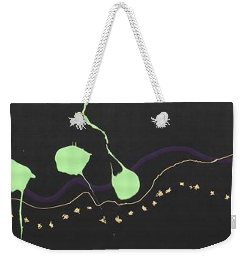 Abstract Weekender Tote Bag featuring the painting Pick Your Path by David Mayeau