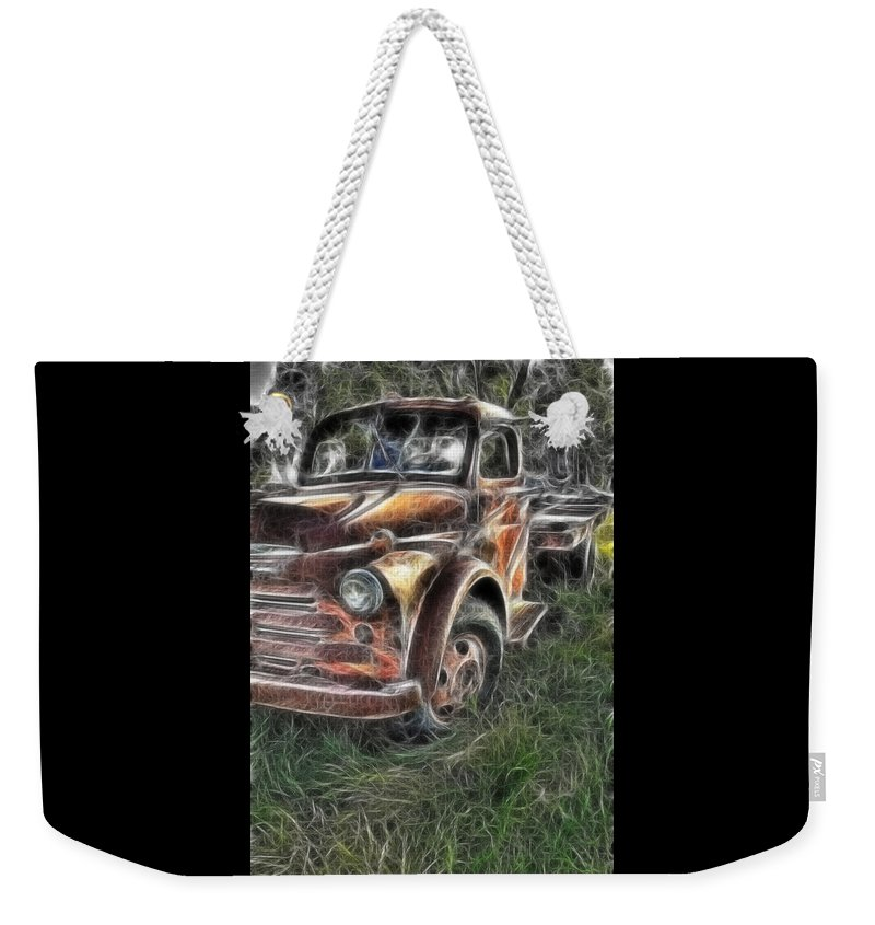Pickup Truck Weekender Tote Bag featuring the photograph Pickup 2467 by Timothy Bischoff