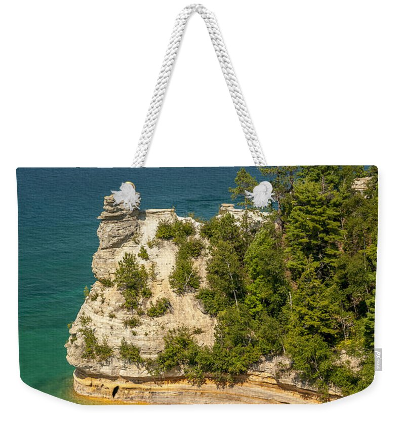 Pictured Rocks National Lakeshore Weekender Tote Bag featuring the photograph Pictured Rocks National Lakeshore by Sebastian Musial