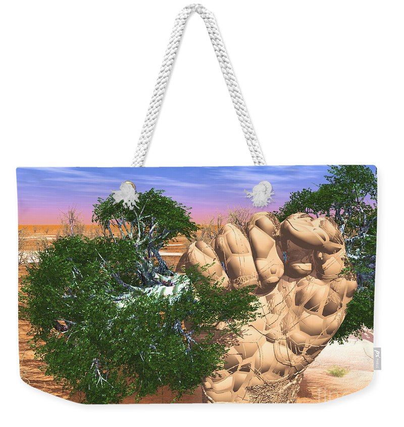 Nature Weekender Tote Bag featuring the digital art Piece Of Wasteland by Eric Nagel