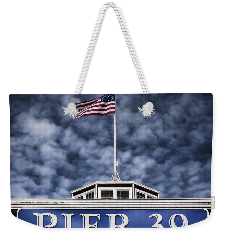Pier 39 Weekender Tote Bag featuring the photograph Pier 39 by Dave Bowman
