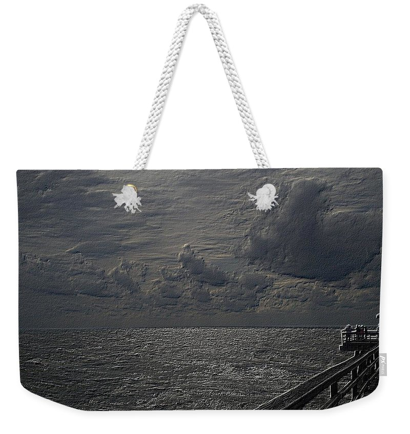 Beach Weekender Tote Bag featuring the photograph Pier Fx by Joseph Yarbrough