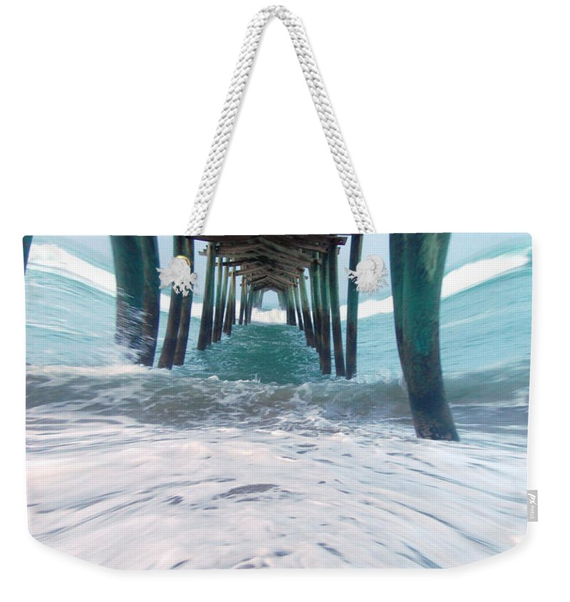 Dam Weekender Tote Bag featuring the photograph Pier by Mim White