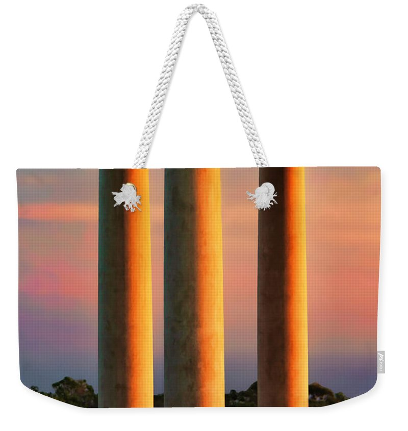 Pillars Of Life Weekender Tote Bag featuring the photograph Pillars Of Life by Kasia Bitner