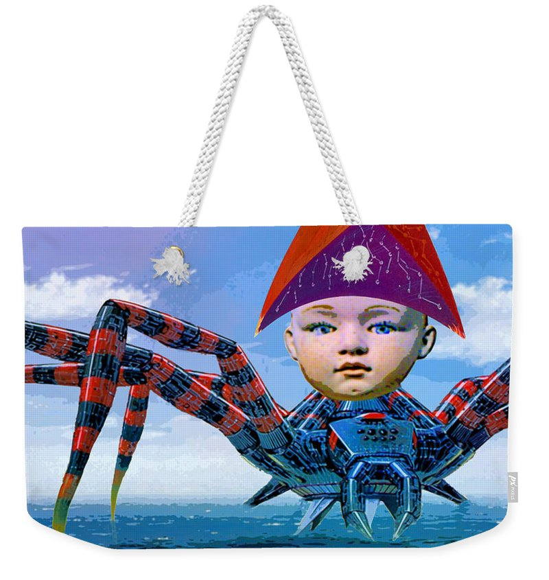 Pilot Weekender Tote Bag featuring the mixed media Pilot by Dominic Piperata