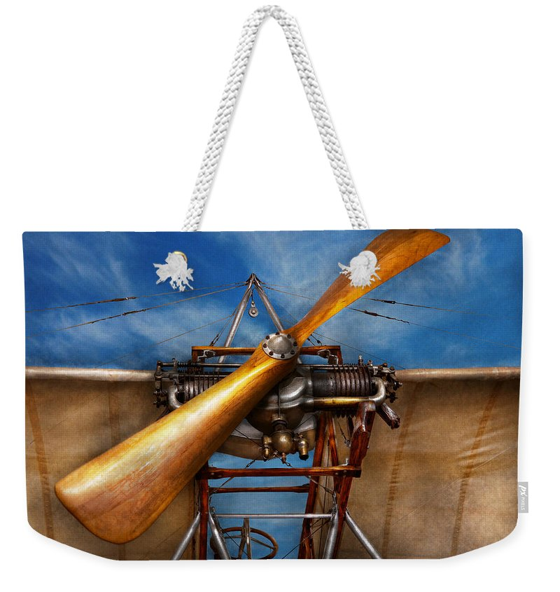 Plane Weekender Tote Bag featuring the photograph Pilot - Prop - They Don't Build Them Like This Anymore by Mike Savad