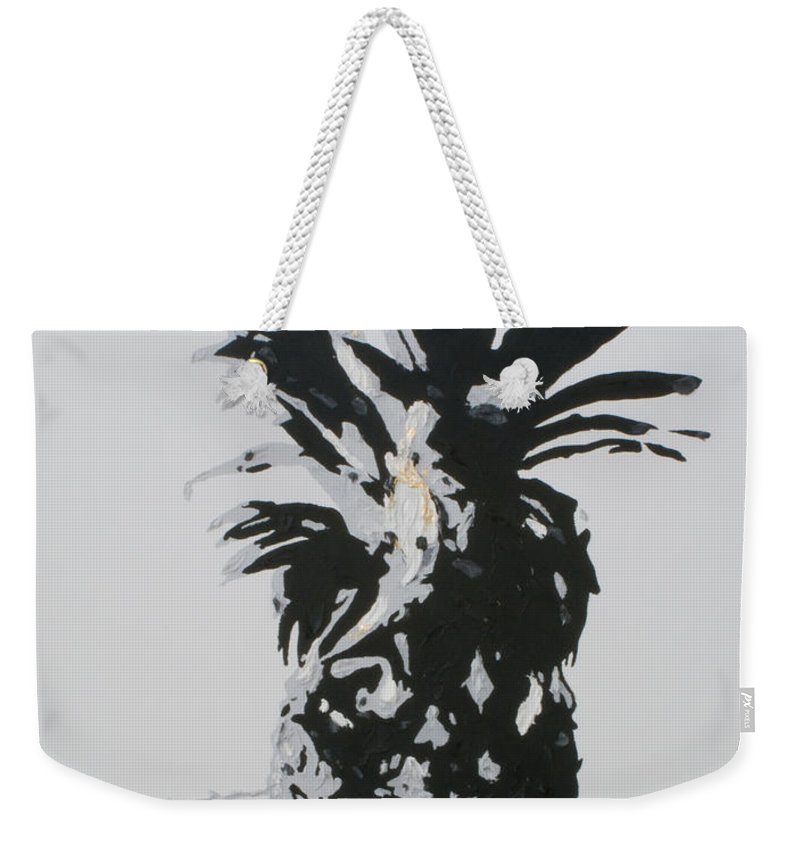 Pineapple Weekender Tote Bag featuring the painting Pineapple by Katharina Filus