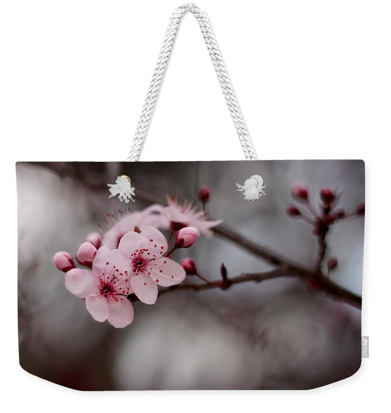 Pink Weekender Tote Bag featuring the photograph Pink Blossoms by Michelle Wrighton