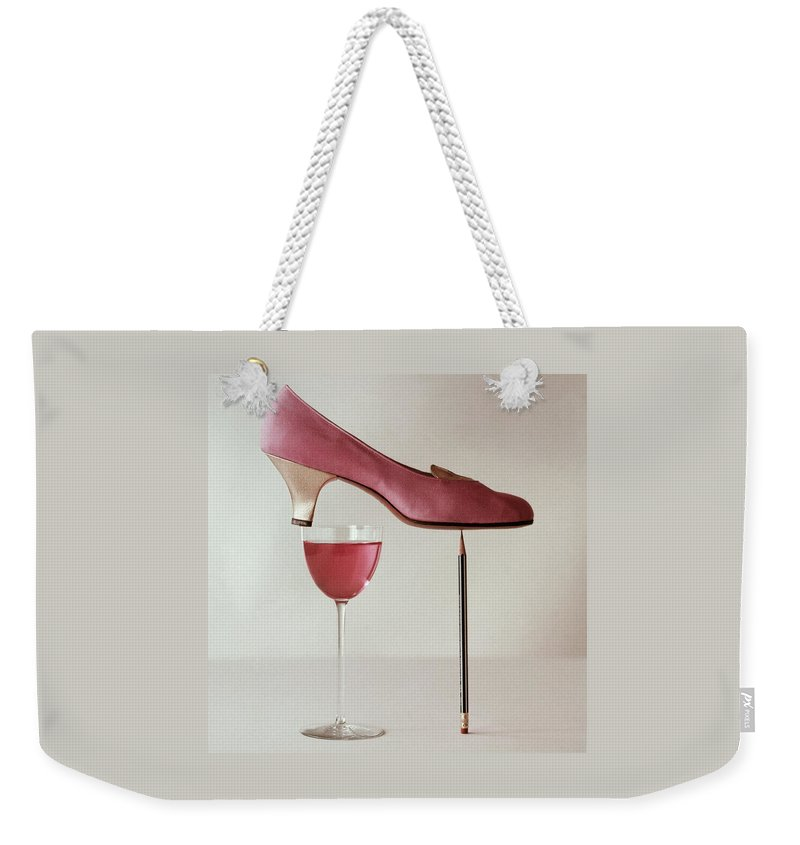 Accessories Weekender Tote Bag featuring the photograph Pink Capezio Pump by Richard Rutledge