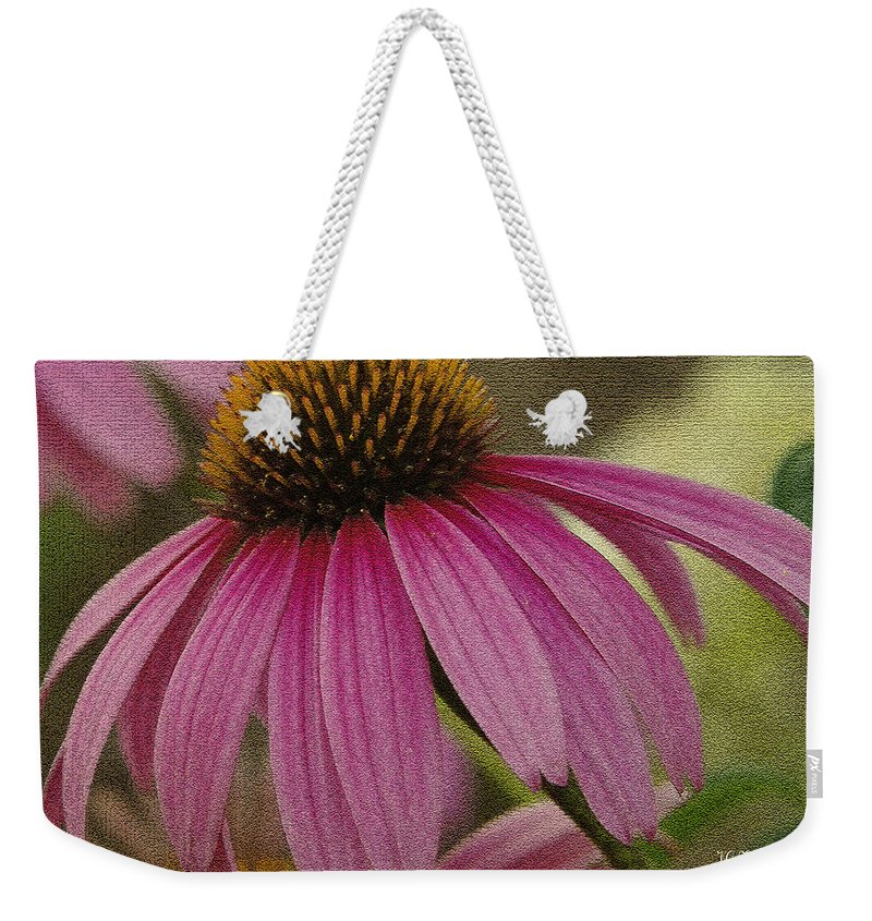 Coneflowers Weekender Tote Bag featuring the photograph Pink Coneflower by James C Thomas