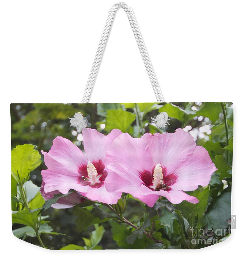 Flowers Weekender Tote Bag featuring the photograph Pink Couple by William Norton
