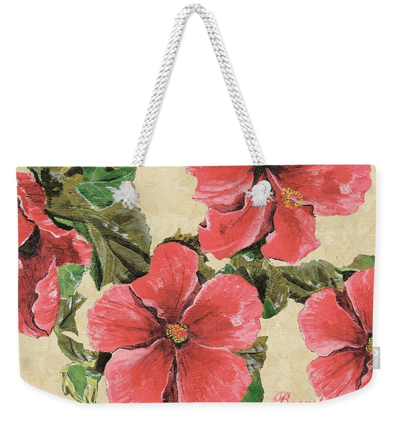Hibiscus Flower Weekender Tote Bags