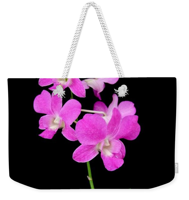 Orchid Weekender Tote Bag featuring the photograph Pink Orchids 9 by Mary Deal