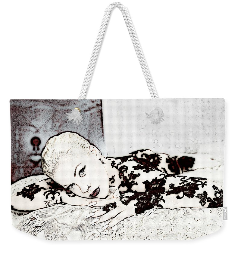 Pink Weekender Tote Bag featuring the photograph Pink by Lyriel Lyra