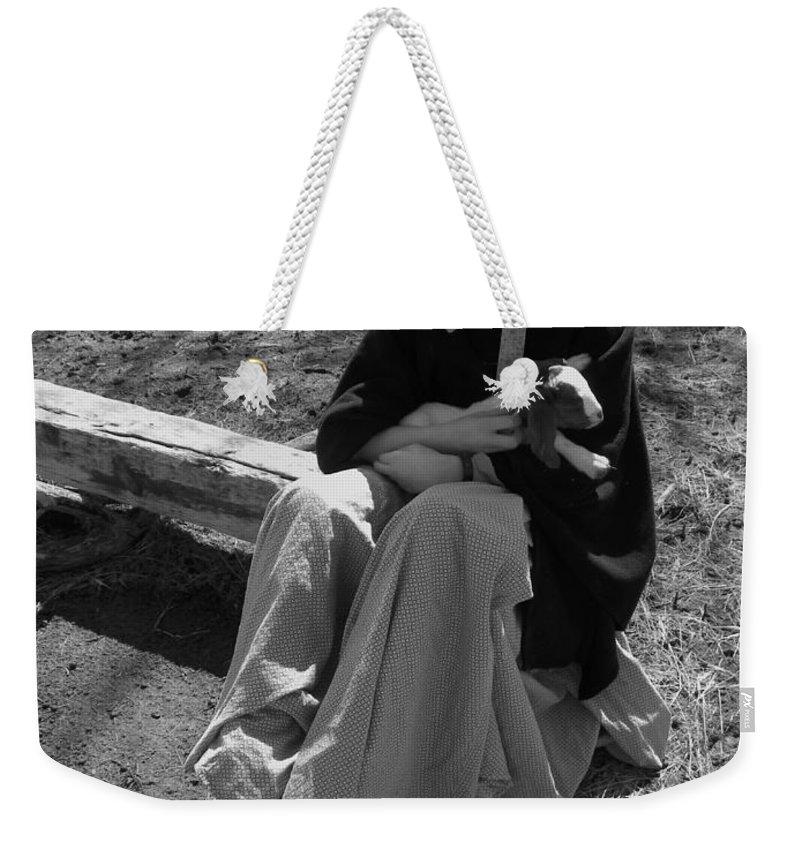 Kid Weekender Tote Bag featuring the photograph Pioneer Kid Play by Sheri Lauren