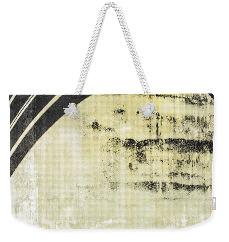 Cement Wall Weekender Tote Bag featuring the photograph Piped Abstract 4 by Carolyn Marshall