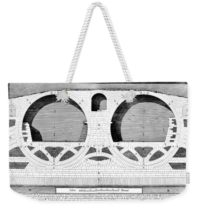 1756 Weekender Tote Bag featuring the photograph Piranesi: Ponte Fabrizio by Granger