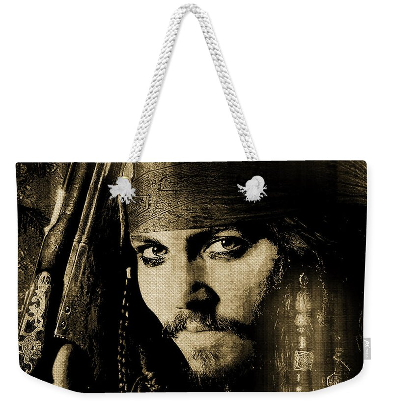 Pirate Weekender Tote Bag featuring the digital art Pirate Life - Sepia by Absinthe Art By Michelle LeAnn Scott