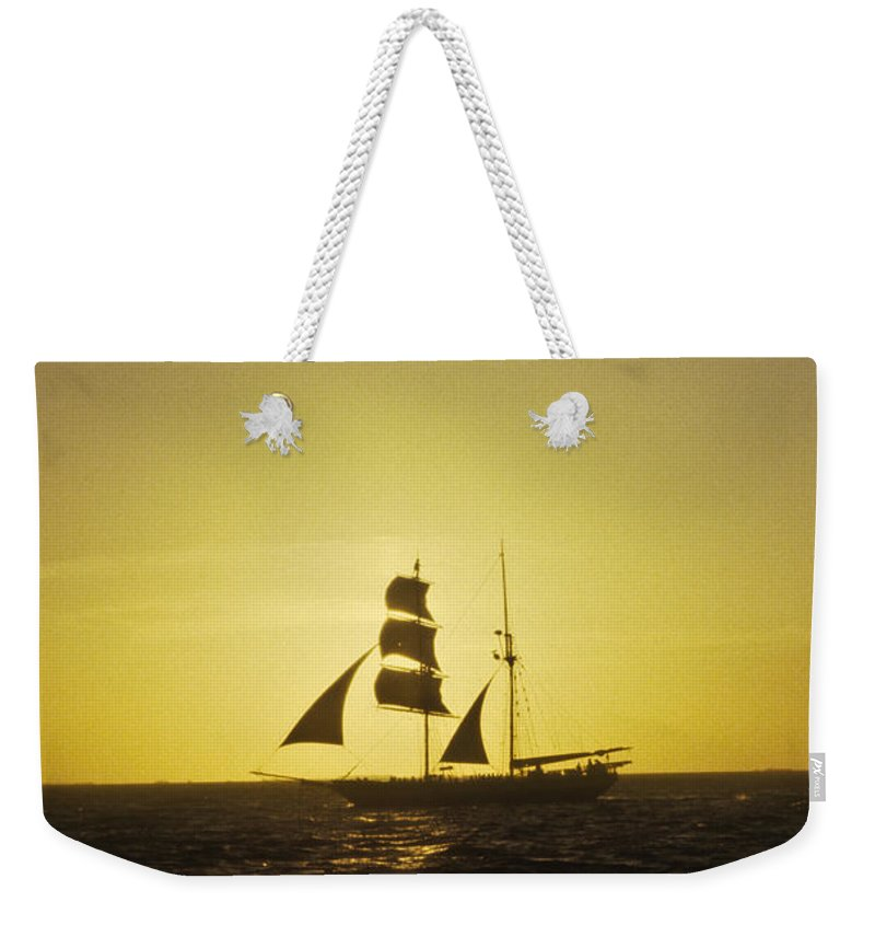 Pirates Weekender Tote Bag featuring the photograph Pirates At Sea - Caribbean by Douglas Barnett