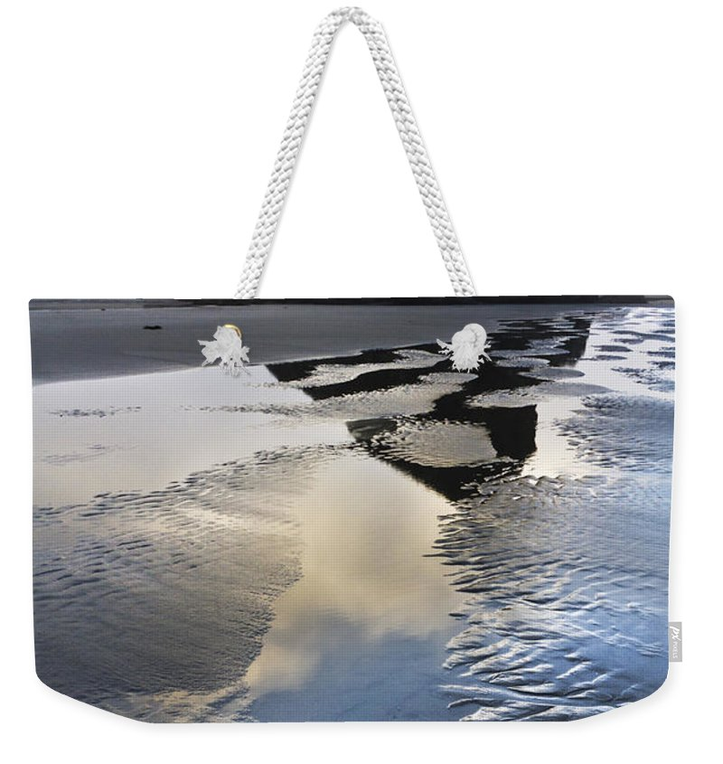 Clouds Weekender Tote Bag featuring the photograph Pistol River by Debra and Dave Vanderlaan