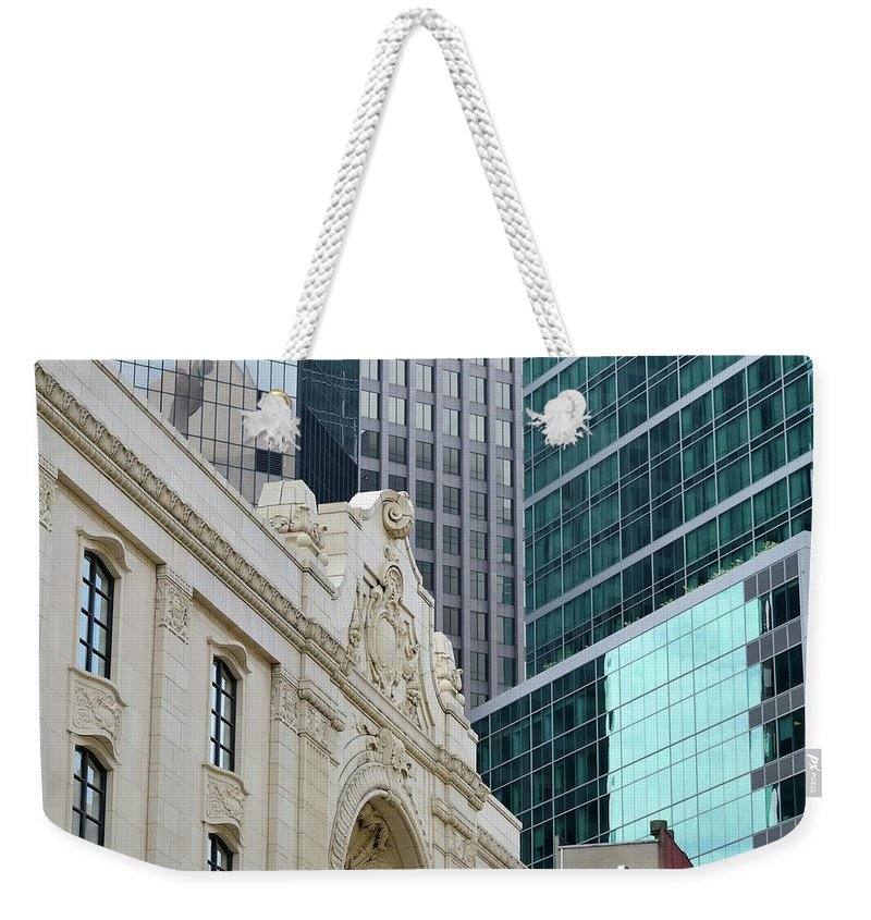 Downtown District Weekender Tote Bag featuring the photograph Pittsburgh Architecture by Rivernorthphotography