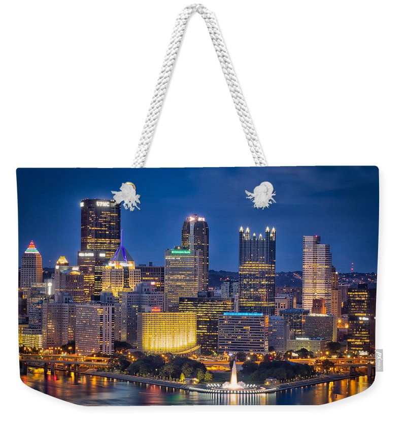 Architecture Weekender Tote Bag featuring the photograph Pittsburgh by Rich McPeek