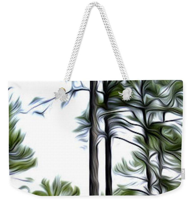 Pine Weekender Tote Bag featuring the photograph Pixelated Pine by James Ekstrom