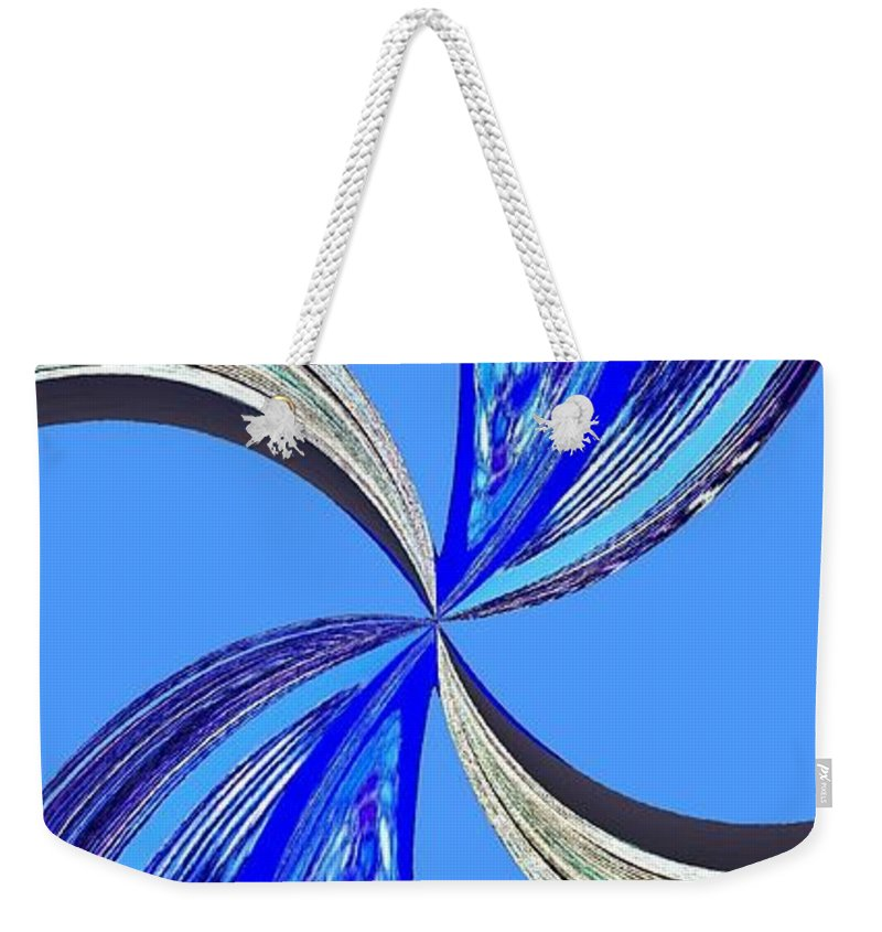 Abstract Weekender Tote Bag featuring the digital art Pizzazz 47 by Will Borden