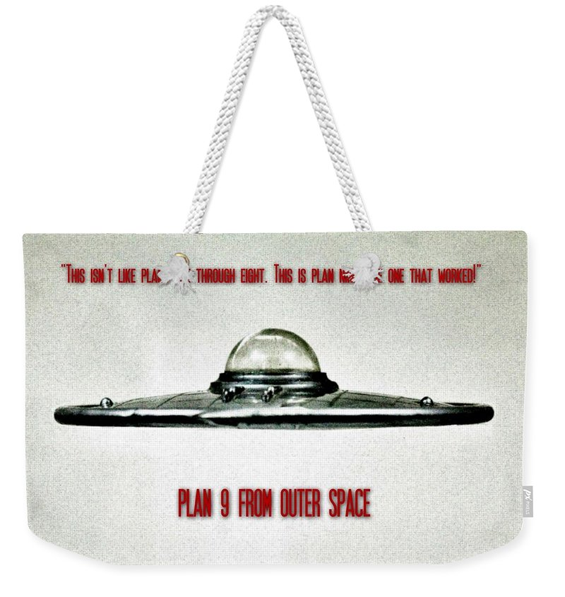 Ufo Weekender Tote Bag featuring the photograph Plan 9 Seinfeld by Benjamin Yeager