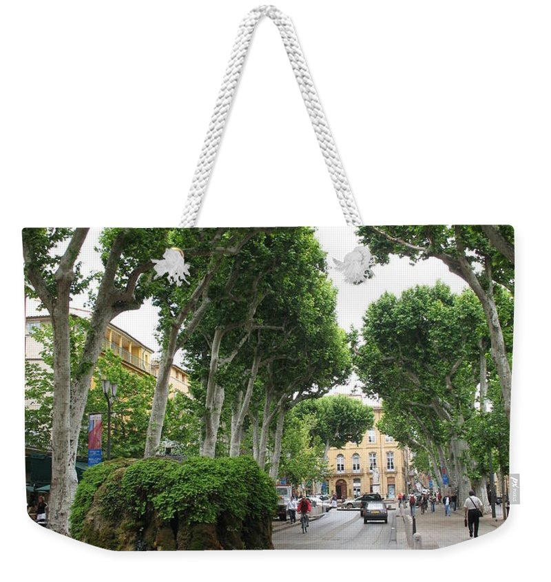 Plane Weekender Tote Bag featuring the photograph Plane Alley - Aix En Provence by Christiane Schulze Art And Photography