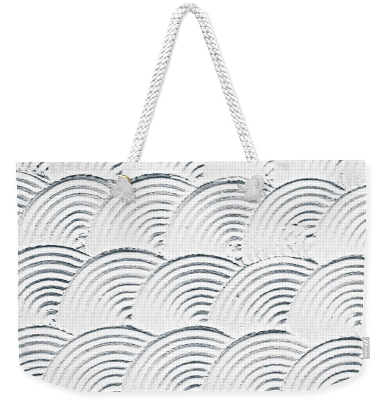 Backdrop Weekender Tote Bag featuring the photograph Plaster Pattern by Tom Gowanlock