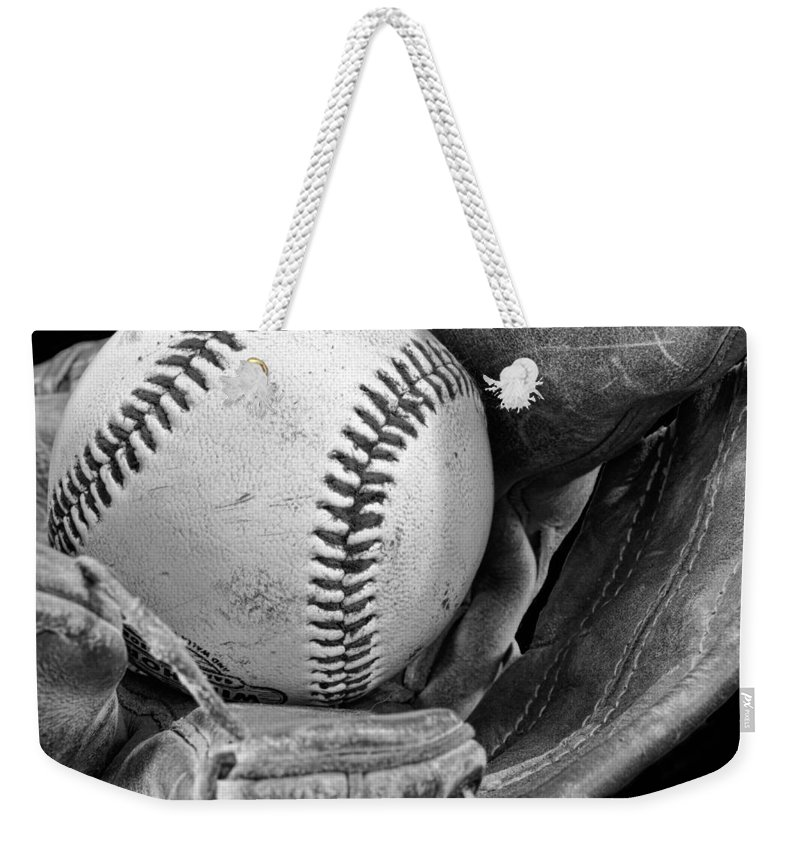 Baseball Weekender Tote Bag featuring the photograph Play Ball by Don Schwartz