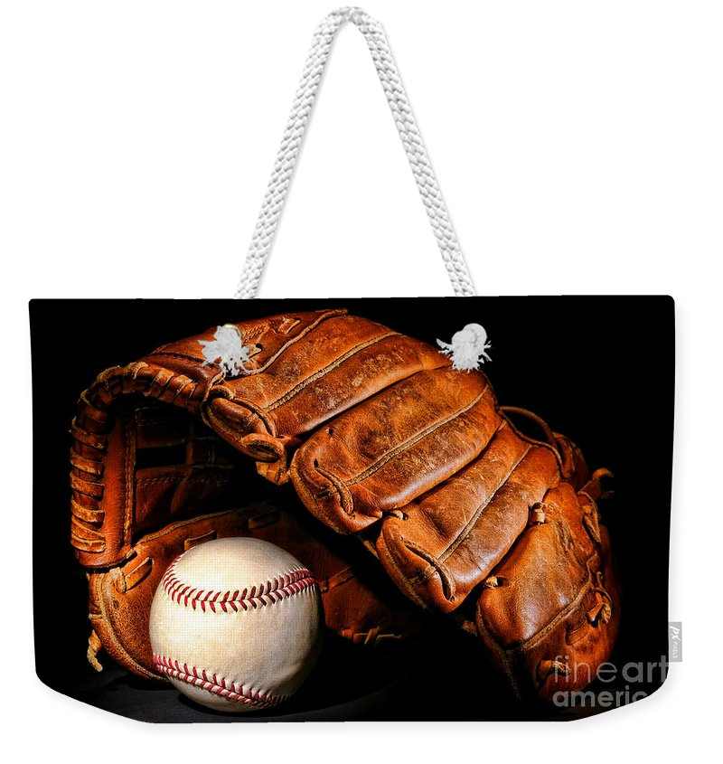 Baseball Weekender Tote Bag featuring the photograph Play Ball by Olivier Le Queinec