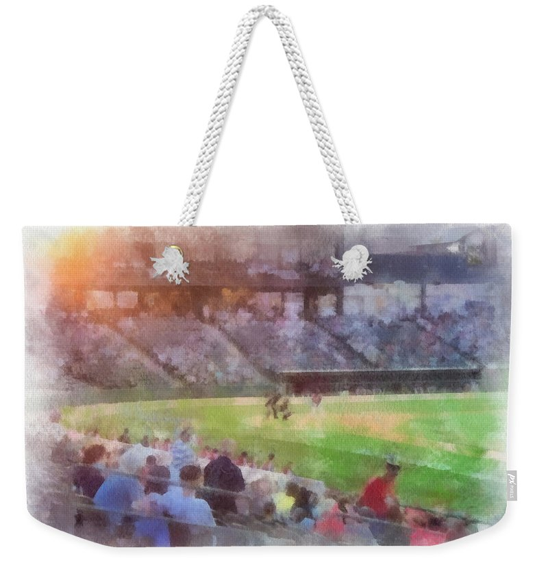 Play Ball Weekender Tote Bag featuring the photograph Play Ball Photo Art by Thomas Woolworth